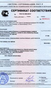 Сертификат на окна из ИВАПЕР (до 27.08.15)