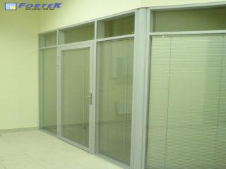 Установка стеклянных перегородок